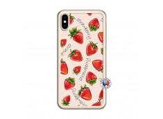 Coque iPhone XS MAX Sorbet Fraise Translu