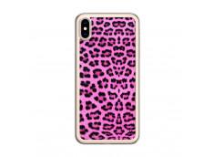Coque iPhone XS MAX Pink Leopard Translu