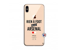 Coque iPhone XS MAX Rien A Foot Allez Arsenal