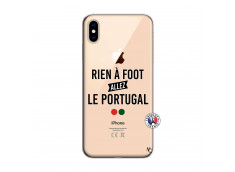 Coque iPhone XS MAX Rien A Foot Allez Le Portugal