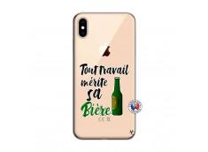 Coque iPhone XS MAX Tout Travail Merite Sa Biere