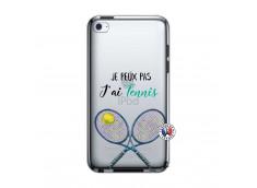 Coque iPod Touch 4 Je Peux Pas J Ai Tennis