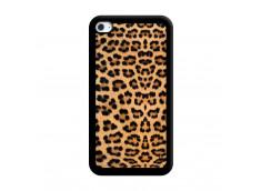 Coque iPod Touch 4 Leopard Style Noir