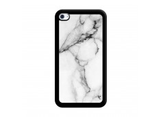 Coque iPod Touch 4 White Marble Noir