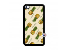 Coque iPod Touch 4 Sorbet Ananas Noir