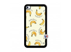 Coque iPod Touch 4 Sorbet Banana Split Noir