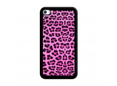 Coque iPod Touch 4 Pink Leopard Noir
