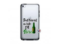 Coque iPod Touch 4 Tout Travail Merite Sa Biere