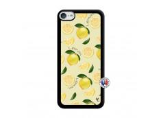 Coque iPod Touch 5/6 Sorbet Citron Noir