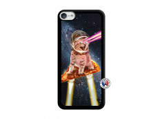 Coque iPod Touch 5/6 Cat Pizza Noir
