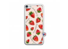 Coque iPod Touch 5/6 Sorbet Fraise Translu