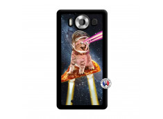 Coque Microsoft Lumia 950 Cat Pizza Noir
