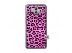 Coque Huawei Mate 10 Pink Leopard Translu