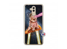 Coque Huawei Mate 20 Lite Cat Pizza Translu