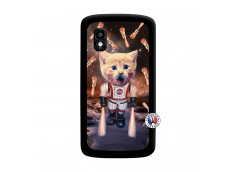 Coque Lg Nexus 4 Cat Nasa Noir