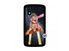 Coque Lg Nexus 4 Cat Pizza Noir