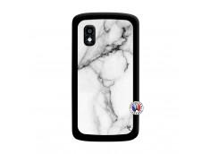 Coque Lg Nexus 4 White Marble Noir