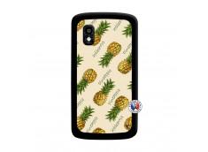 Coque Lg Nexus 4 Sorbet Ananas Noir