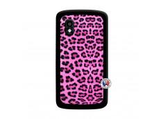 Coque Lg Nexus 4 Pink Leopard Noir