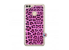 Coque Huawei P Smart Pink Leopard Translu