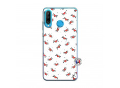 Coque Huawei P30 Lite Cartoon Heart Translu