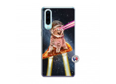 Coque Huawei P30 Cat Pizza Translu