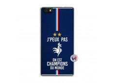 Coque Huawei P8 Lite Je Peux Pas On Est Les Champions Du Monde Translu