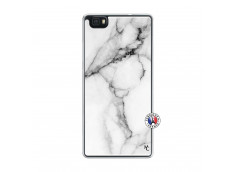 Coque Huawei P8 Lite White Marble Translu