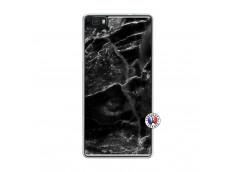 Coque Huawei P8 Lite Black Marble Translu