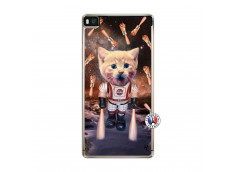 Coque Huawei P8 Cat Nasa Translu