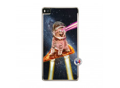 Coque Huawei P8 Cat Pizza Translu