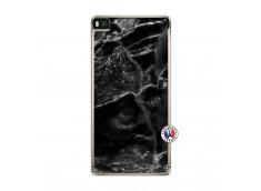 Coque Huawei P8 Black Marble Translu