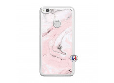 Coque Huawei P9 Lite Marbre Rose Translu