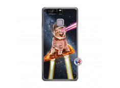Coque Huawei P9 Cat Pizza Translu