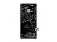 Coque Huawei P9 Black Marble Translu