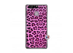 Coque Huawei P9 Pink Leopard Translu