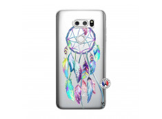Coque Lg V30 Blue Painted Dreamcatcher