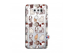 Coque Lg V30 Cat Pattern