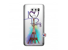 Coque Lg V30 I Love Paris