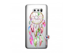 Coque Lg V30 Pink Painted Dreamcatcher