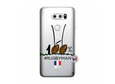 Coque Lg V30 100 % Rugbyman Entre les Poteaux