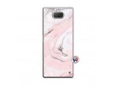 Coque Sony Xperia 10 Plus Marbre Rose Translu