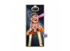 Coque Sony Xperia 10 Cat Pizza Translu