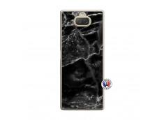 Coque Sony Xperia 10 Black Marble Translu