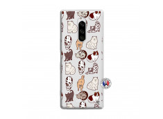 Coque Sony Xperia 1 Cat Pattern