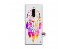 Coque Sony Xperia 1 Dreamcatcher Rainbow Feathers