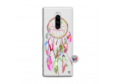 Coque Sony Xperia 1 Pink Painted Dreamcatcher