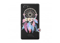 Coque Sony Xperia E3 Multicolor Watercolor Floral Dreamcatcher