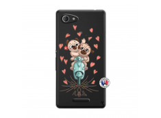 Coque Sony Xperia E3 Puppies Love