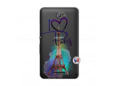 Coque Sony Xperia E4 I Love Paris